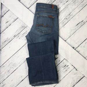 7 FOR ALL MANKIND Bootcut Jeans Distressed sz 30